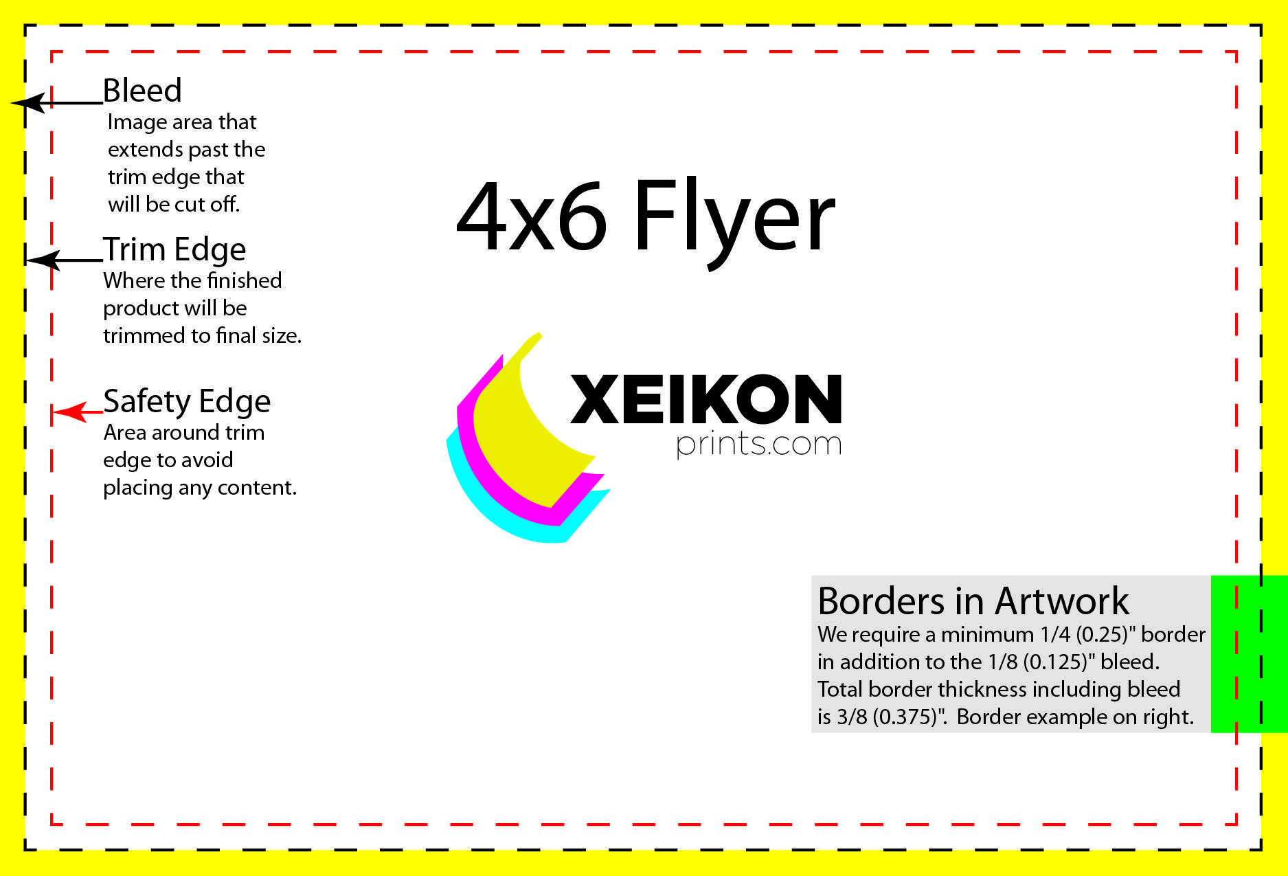 4x6 Flyer Template With Bleed