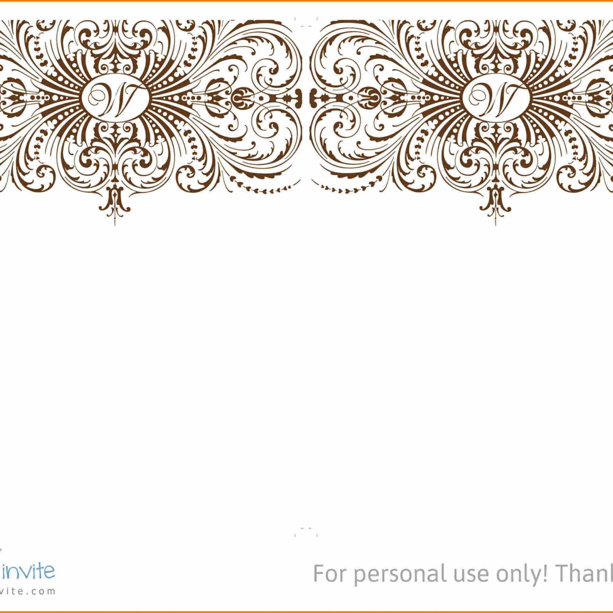 4x6 Wedding Invitation Template Free