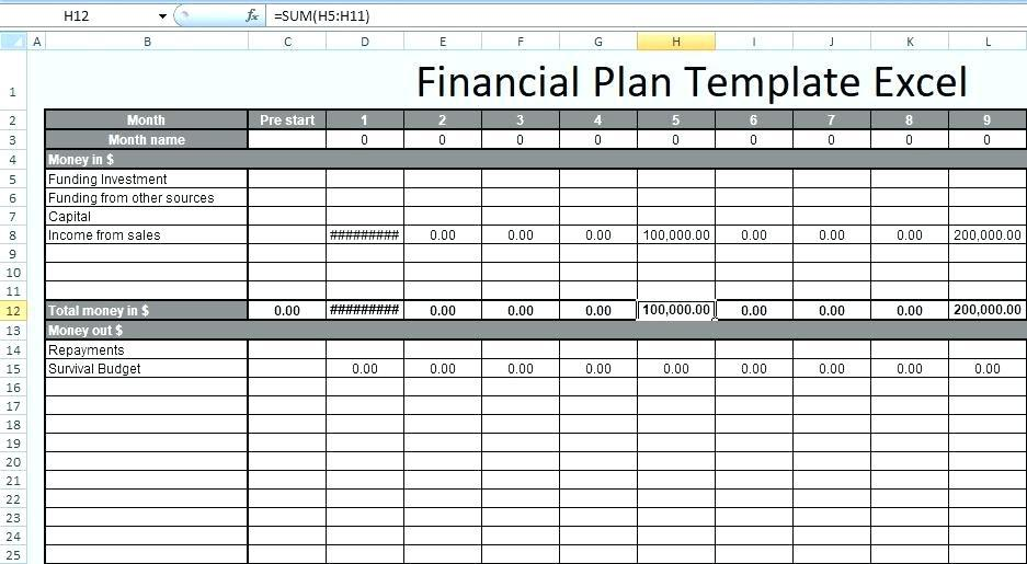5 Year Financial Plan Template Personal Excel
