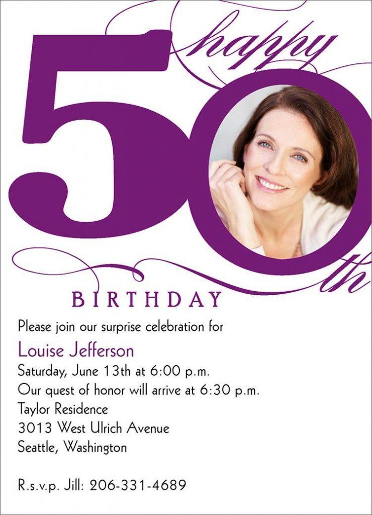 50 Birthday Invitation Templates