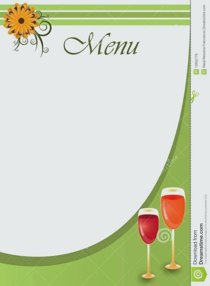 50's Diner Menu Template Free