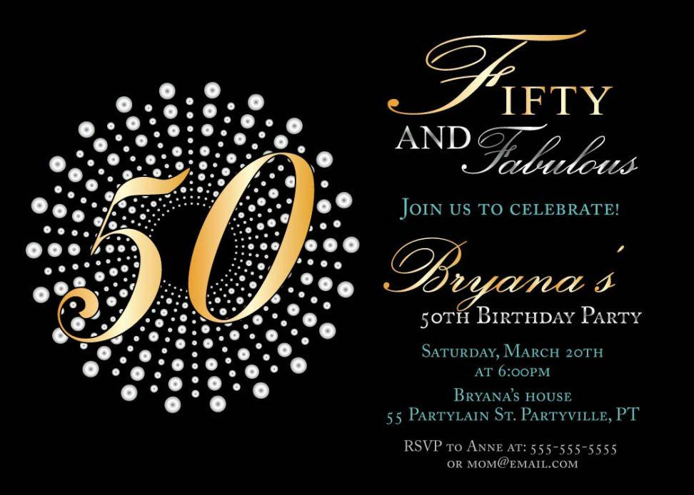 50th Birthday Invitation Maker