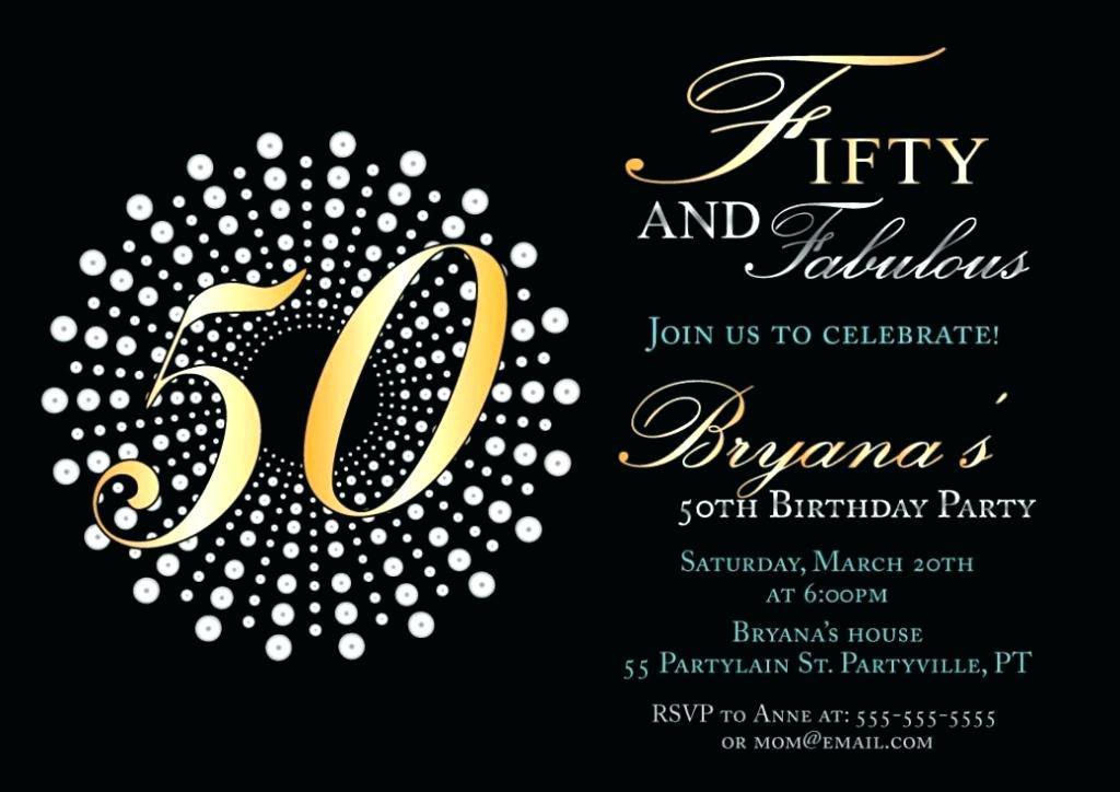 50th Birthday Invitations For Him Free Templates