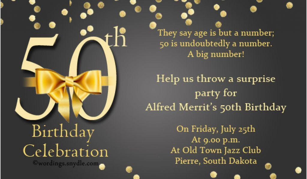 50th Birthday Party Invitation Wording Samples