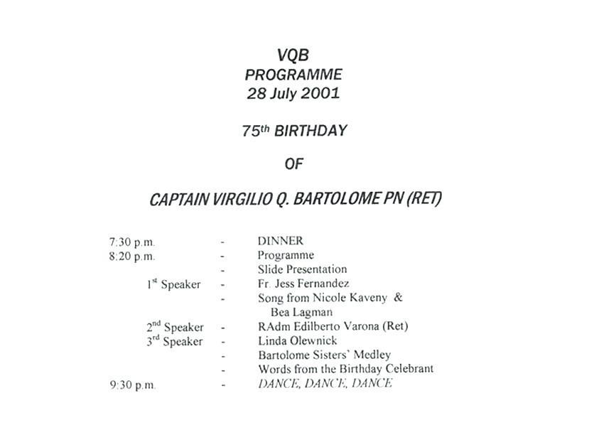 50th Birthday Party Program Template