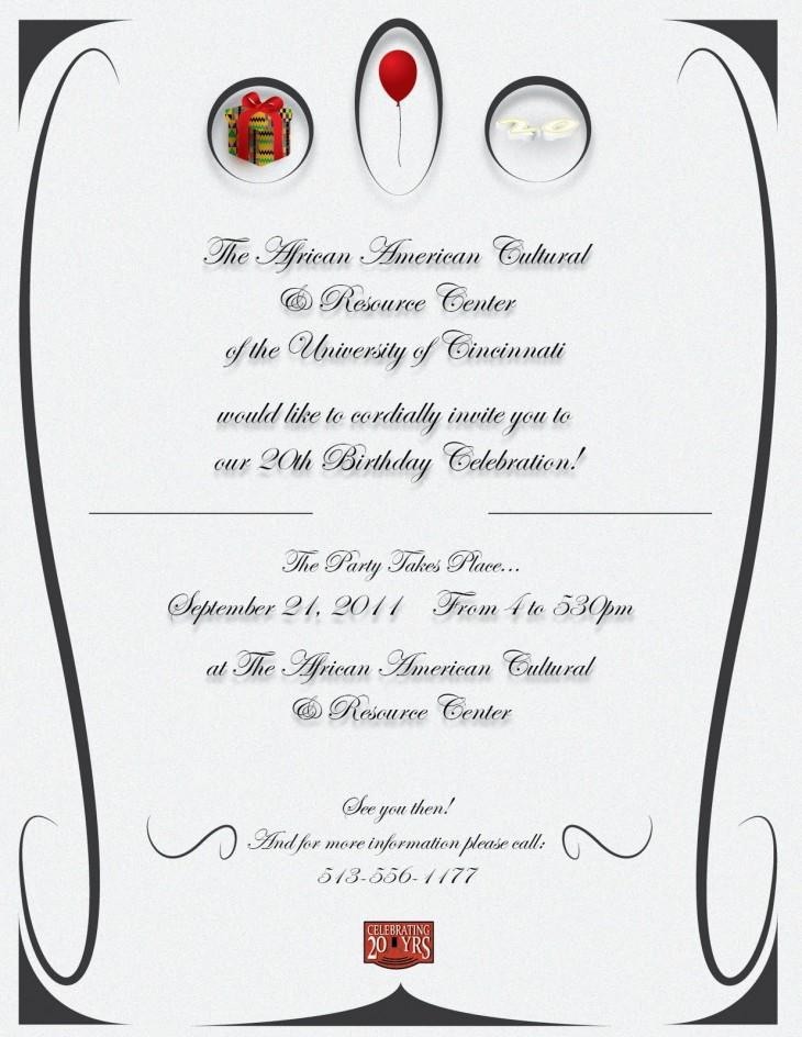 50th Birthday Party Programme Template