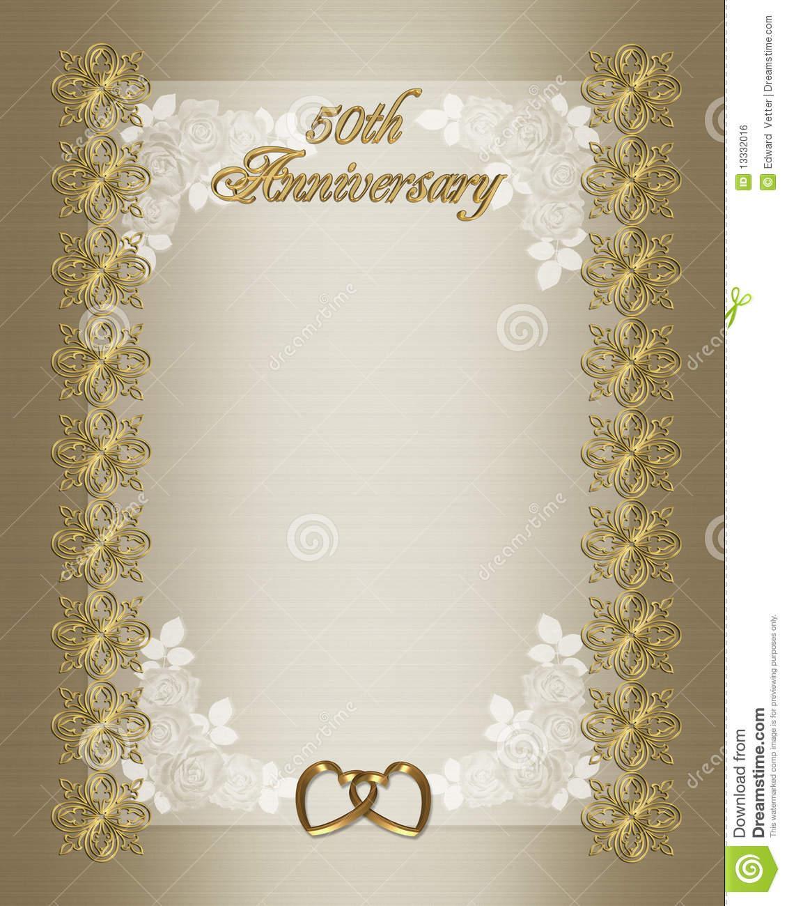 50th Wedding Anniversary Templates Free Download