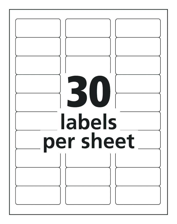 5160 Label Template For Pages