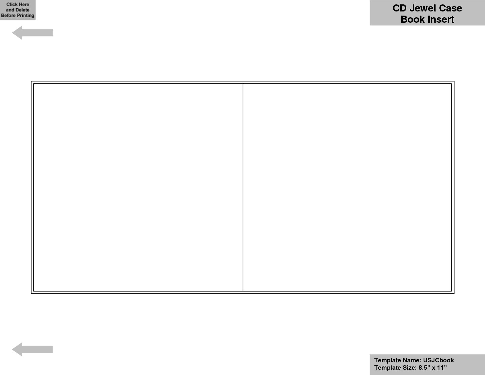 55 X 85 Booklet Template