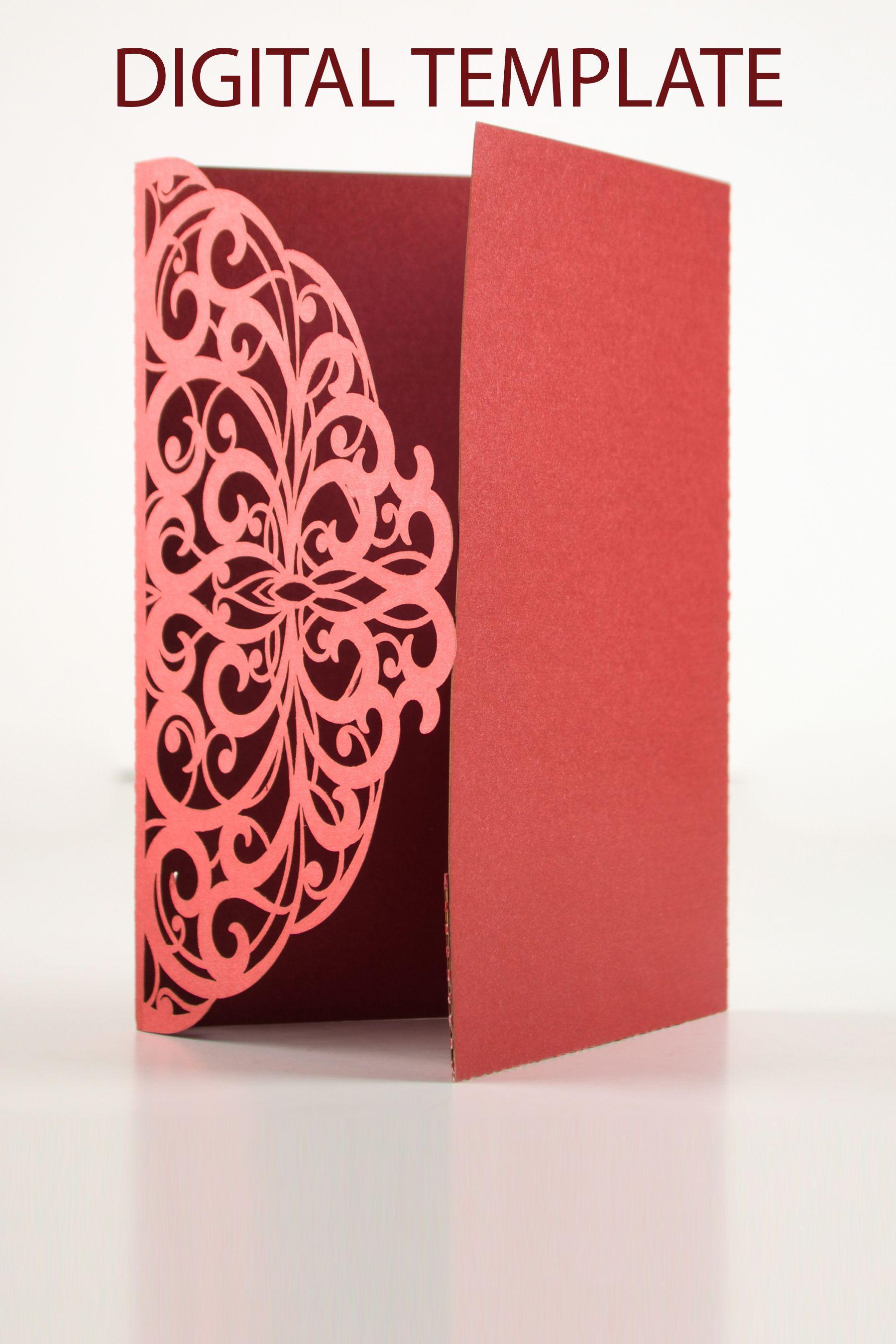 5×7 Pocket Fold Invitation Template