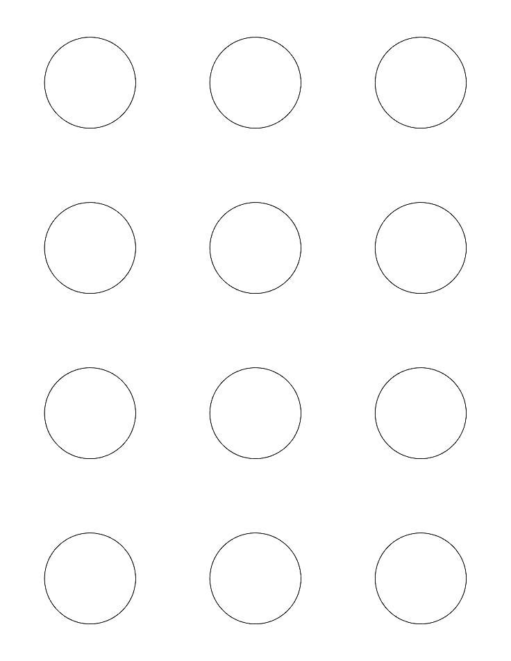 6 Inch Circle Router Template