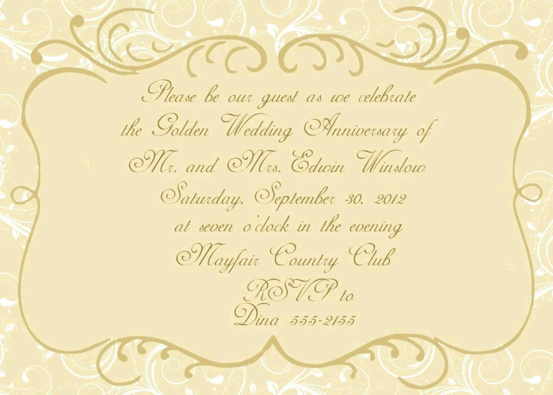 60th Anniversary Invitation Free Templates