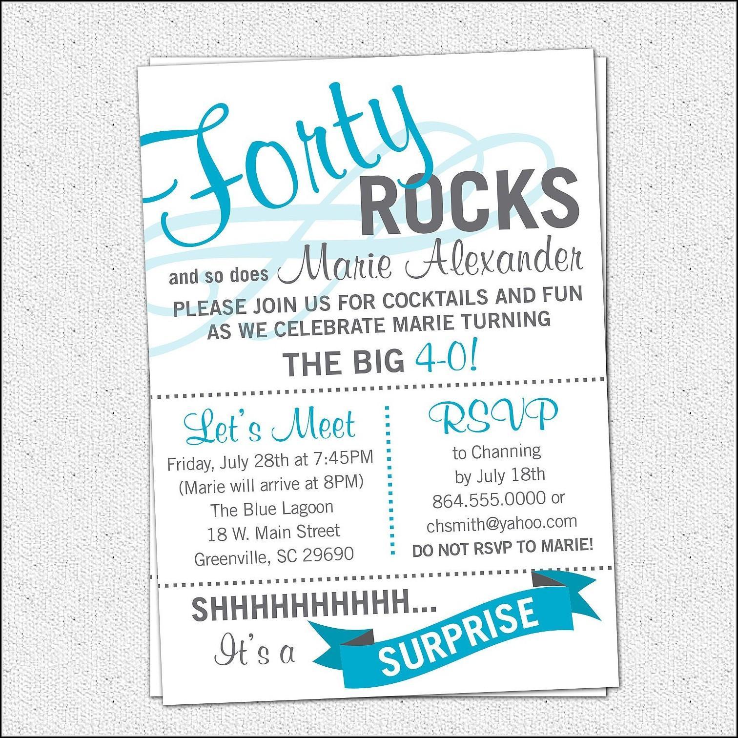 60th Birthday Invitation Templates Word