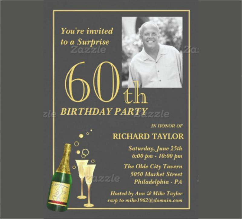 60th Surprise Birthday Party Invitation Template
