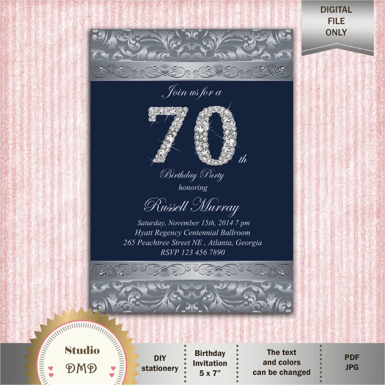70 Birthday Party Invitation Template