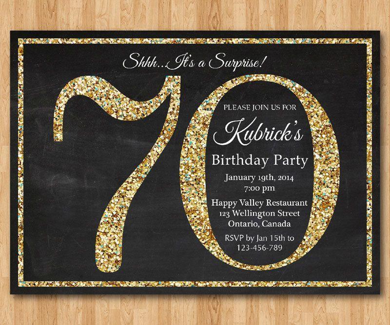 70th Birthday Card Templates