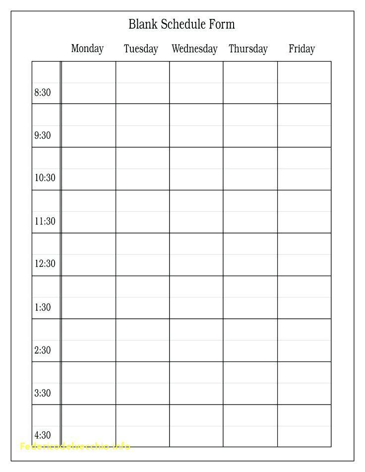 8 Week Workout Calendar Template