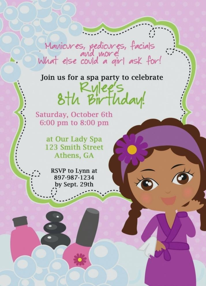 8th Birthday Invitation Wording Samples