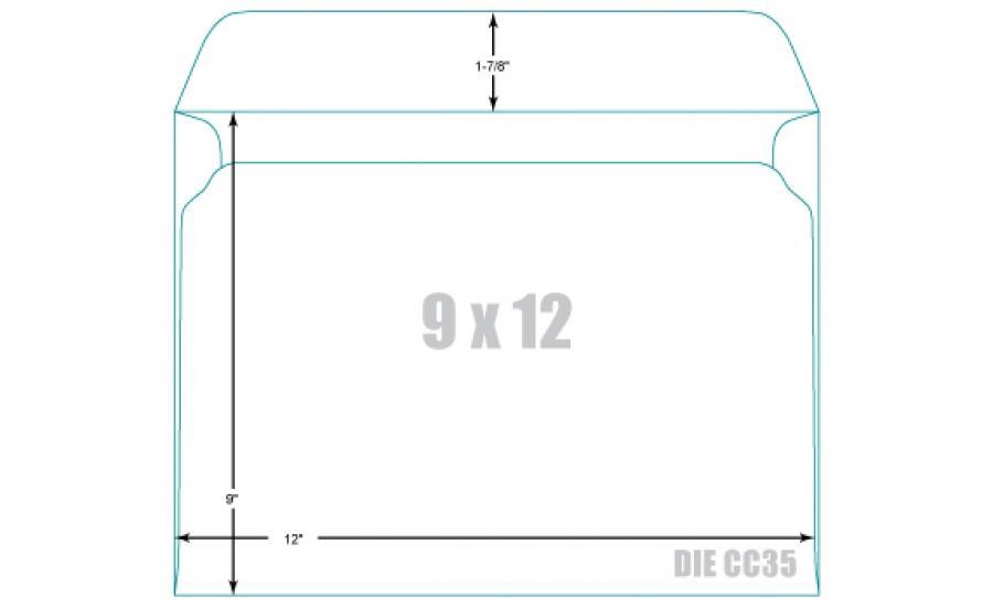 9×12 Envelope Printing Template