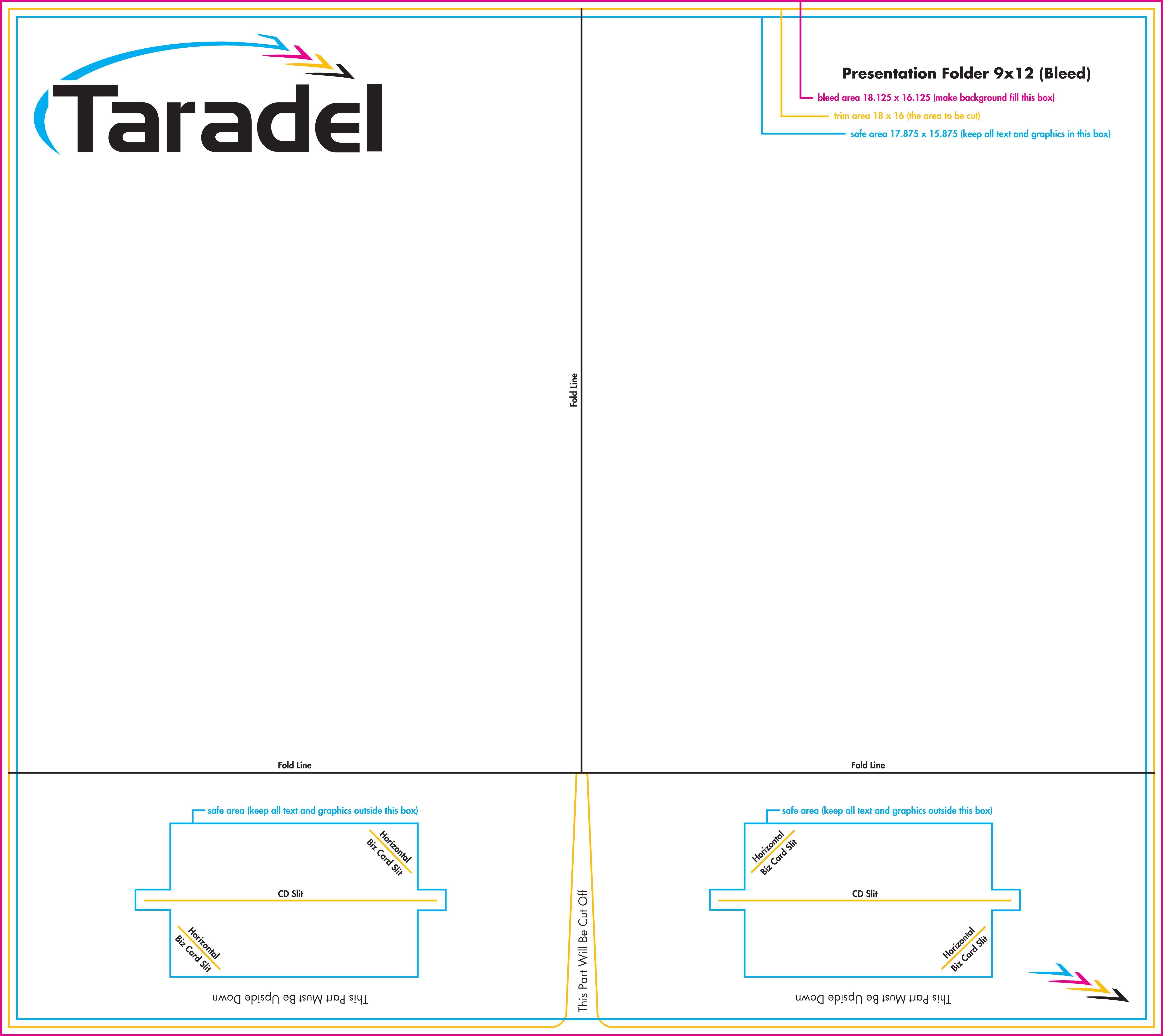 9×12 Presentation Folder Template Indesign