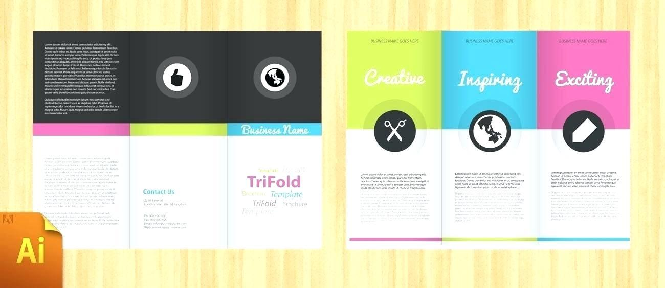 A4 Folded Flyer Template