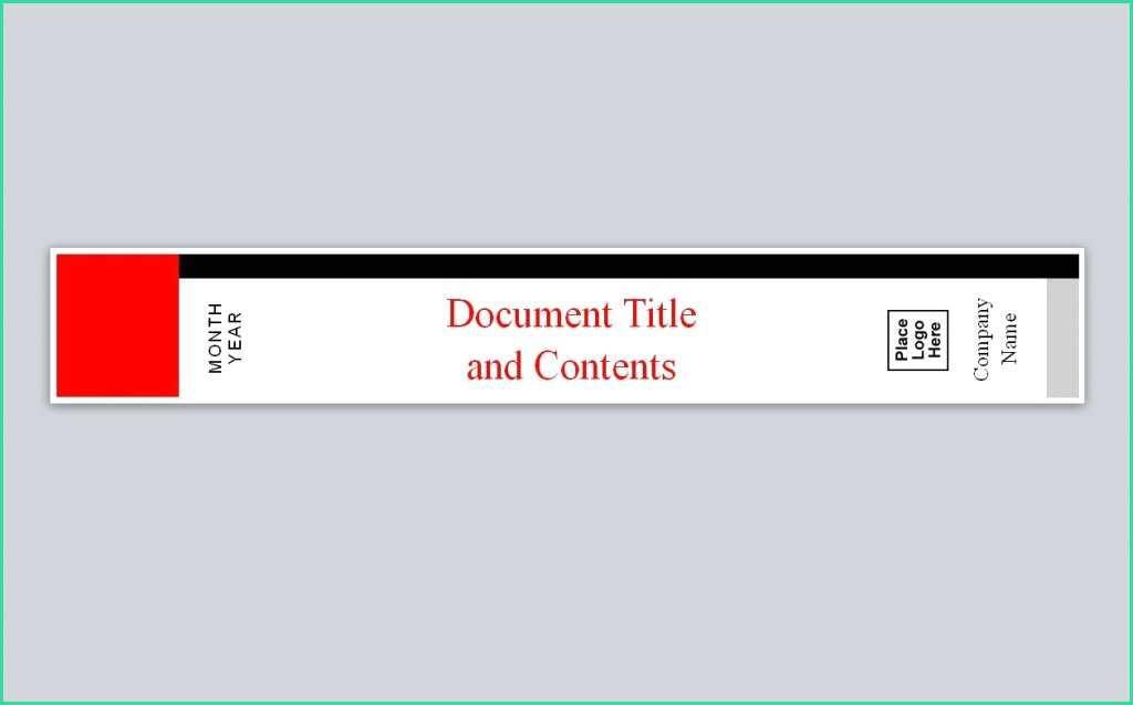 A4 Folder Spine Label Template