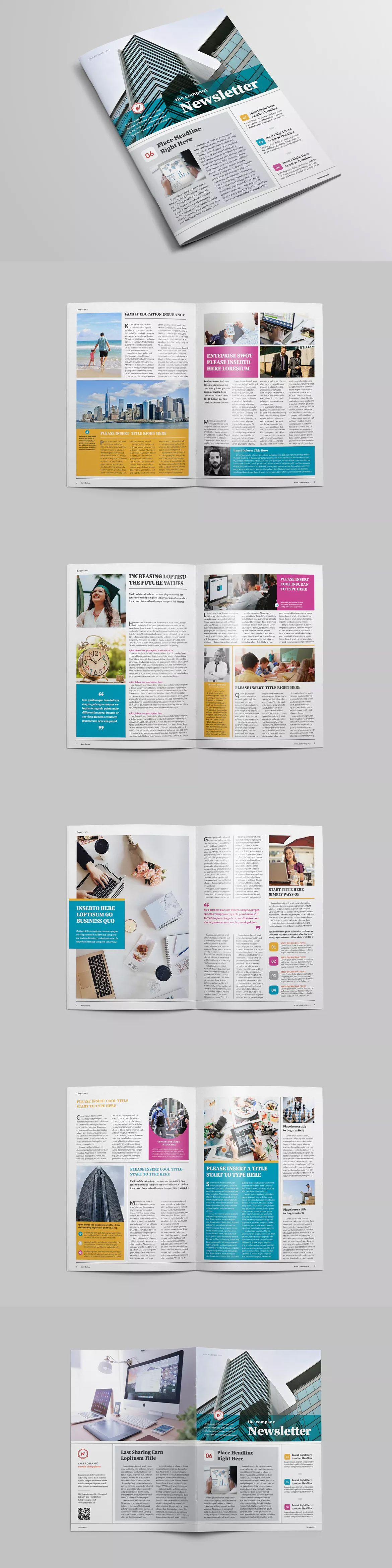 A4 Newsletter Template Indesign
