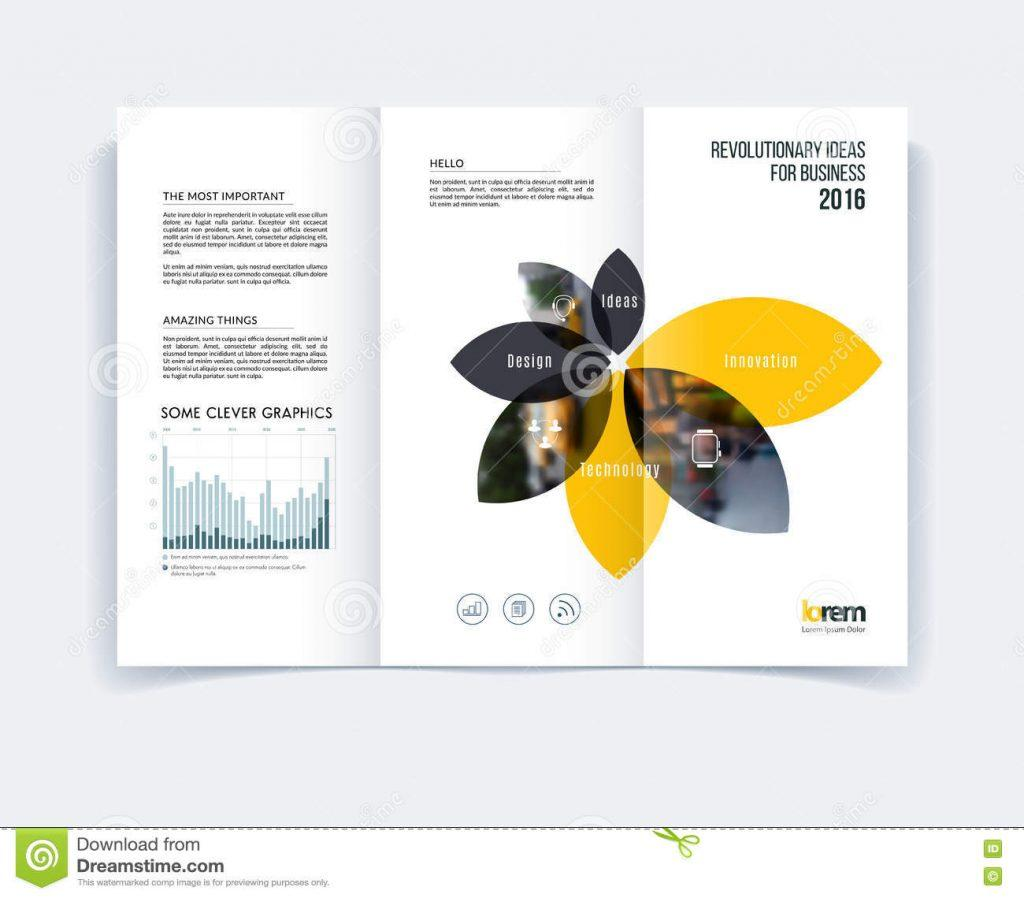 A4 Tri Fold Brochure Template Photoshop Free