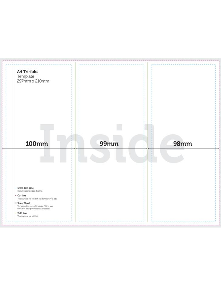 A4 Tri Fold Brochure Template Psd Free Download