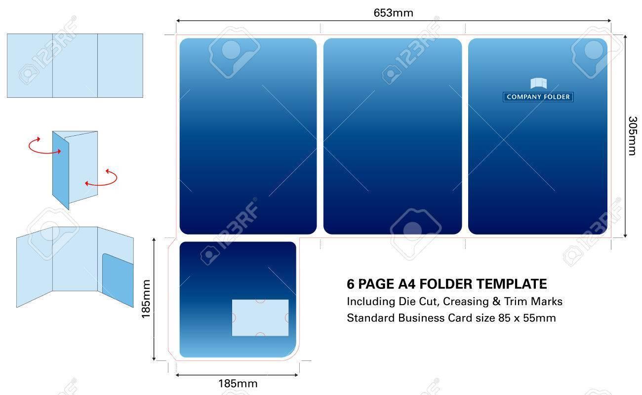 A5 Presentation Folder Template
