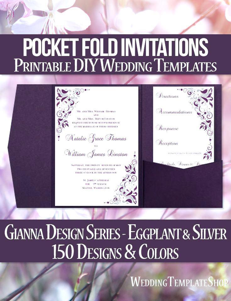 A6 Pocketfold Invitation Template