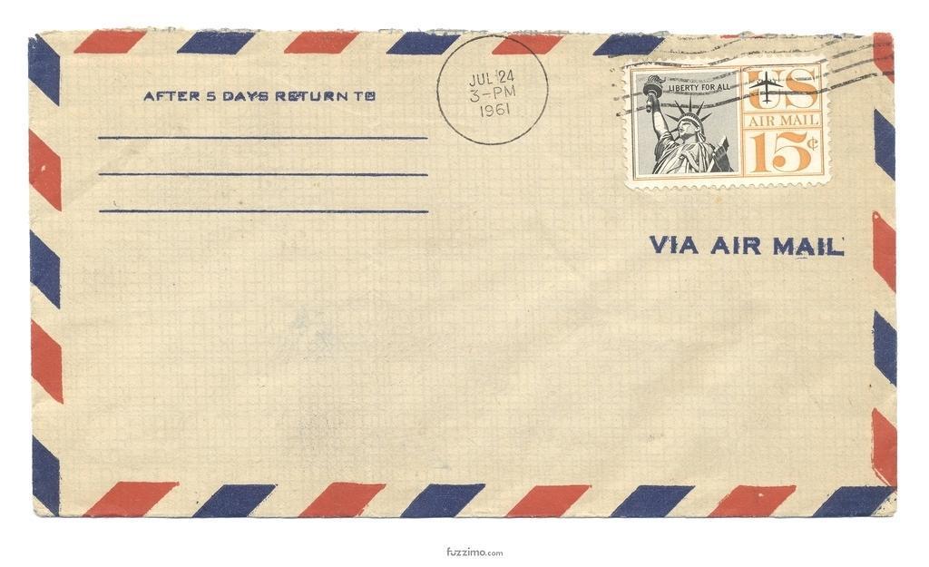 A7 Envelope Return Address Template