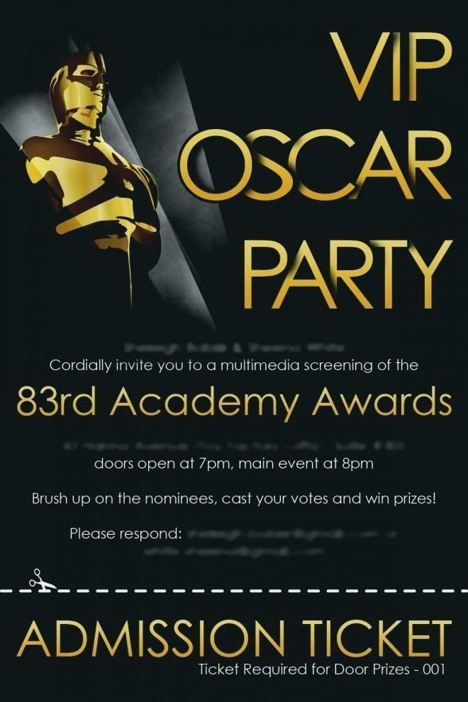 Academy Award Invitation Templates