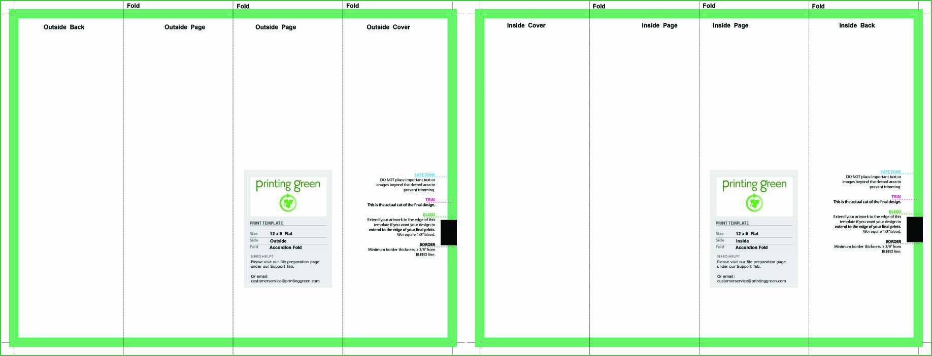 Accordion Fold Brochure Template Indesign