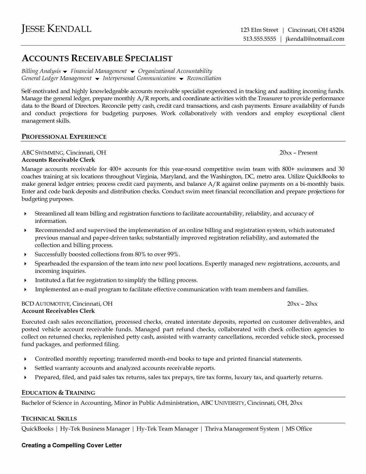 Account Payable Resume Template