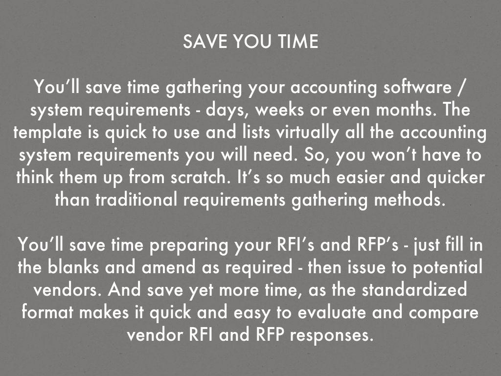 Accounting Software Rfp Template