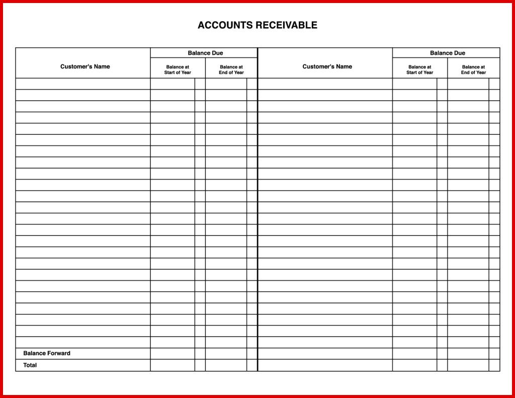 Accounts Ledger Template
