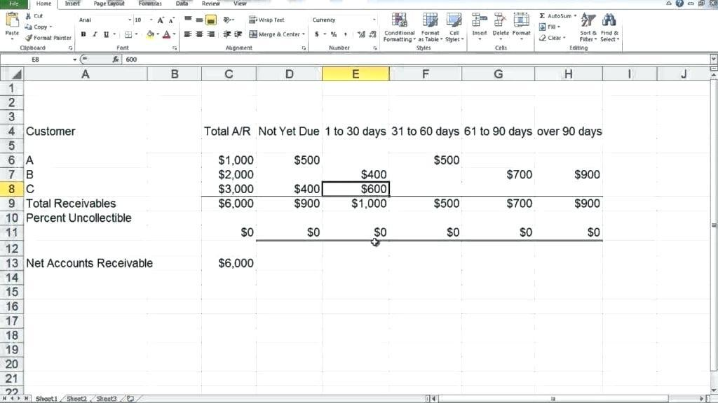 Accounts Payable And Receivable Ledger Template