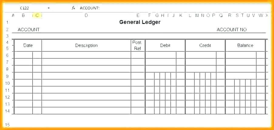Accounts Payable Ledger Template Excel