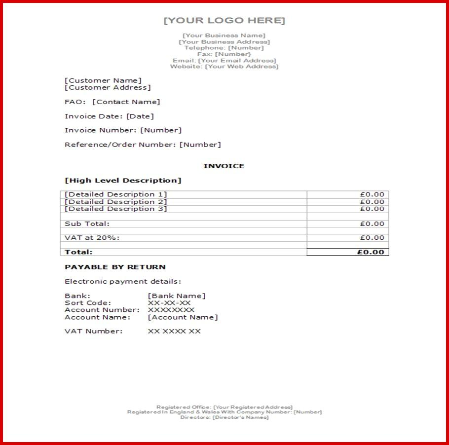 Accounts Receivable Invoice Template