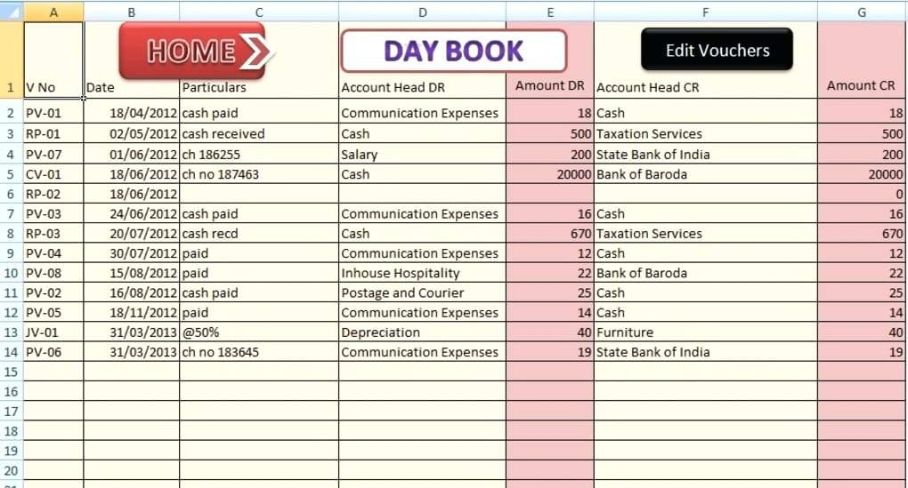 Accrual Basis Accounting Excel Template
