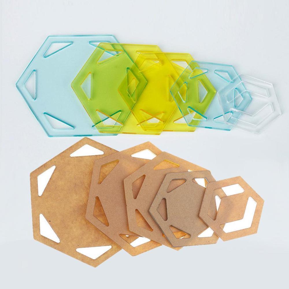 Acrylic Hexagon Quilt Templates