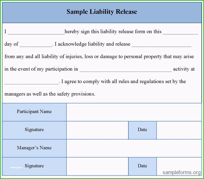 Activity Waiver And Release Form Template