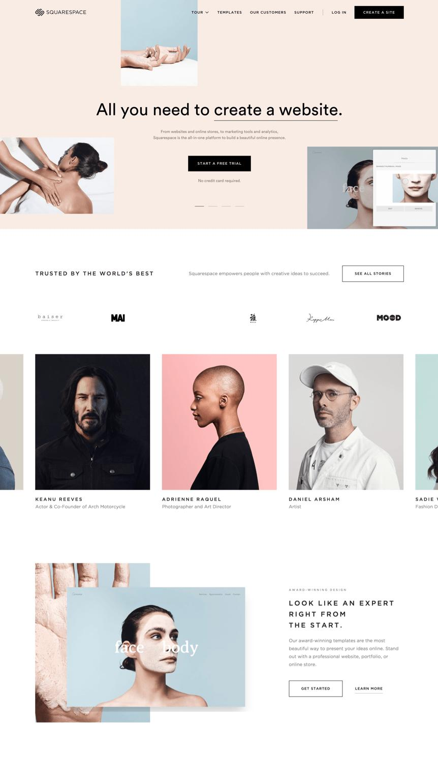 Actor Website Templates Squarespace