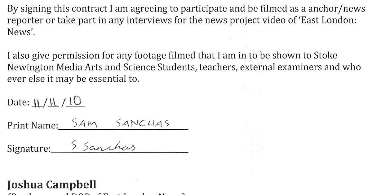 Actors Contract Form