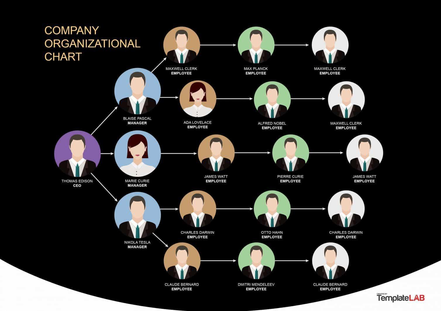 Ada Template Organisational Chart 1