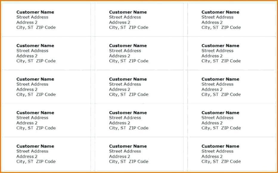 Address Label Template Avery 18160