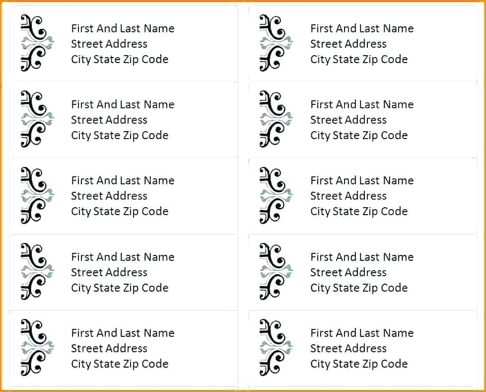 Address Label Template Avery 5160