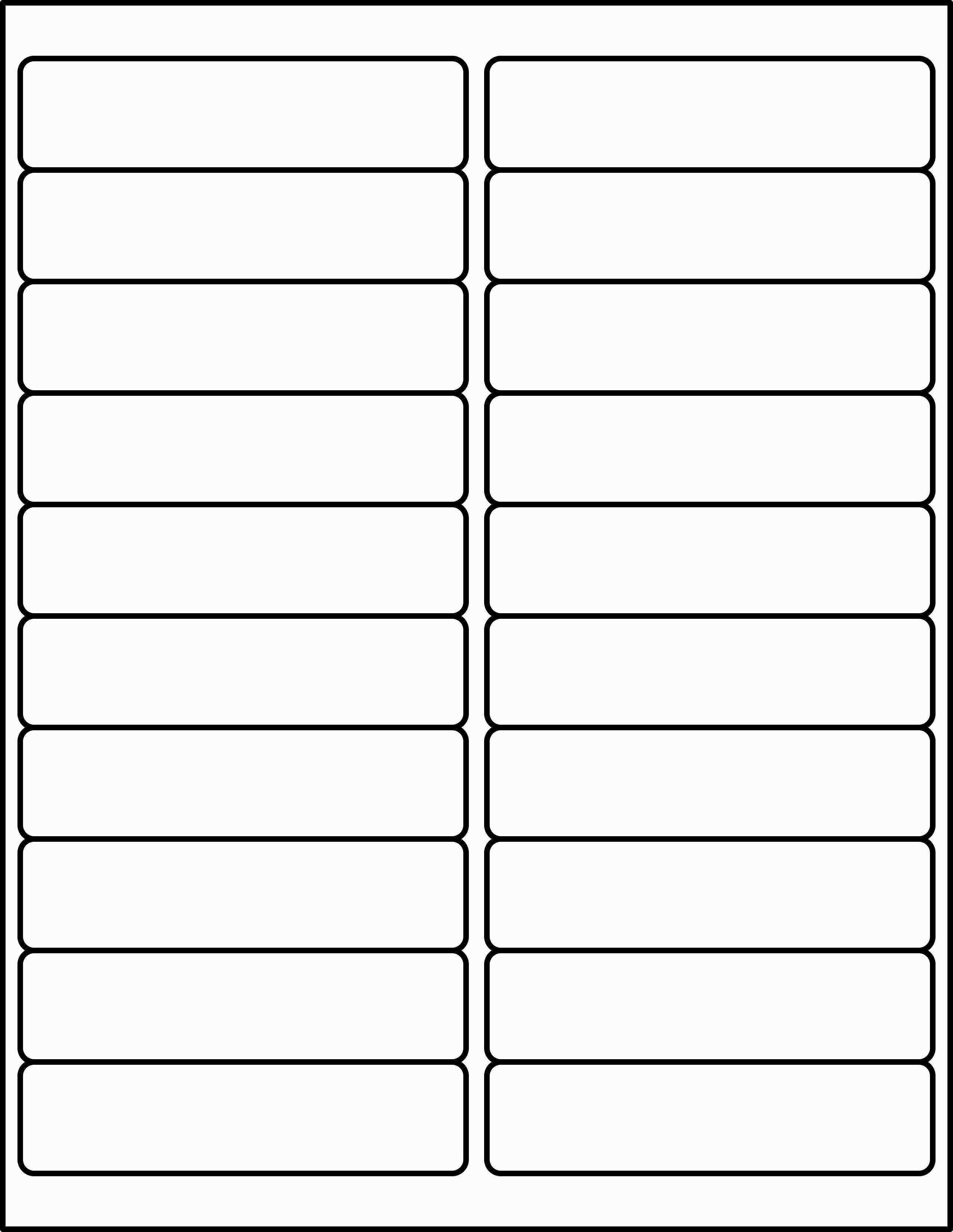 Address Label Templates 21 Per Sheet