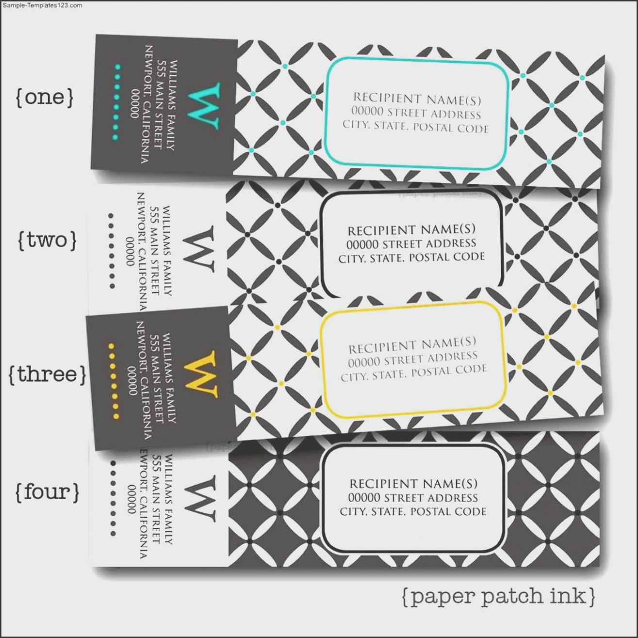 Address Label Templates Wedding